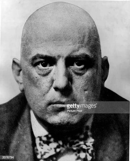 English writer and occultist Aleister Crowley Original Publication Picture Post 8183 New Light On Crowley Part The Man Who Chose Evil pub 1955