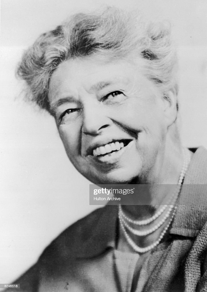 Headshot of Eleanor Roosevelt (1884 - 1962), known as 'First Lady to the World', 1930s.