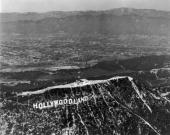 Hollywoodland sign Hollywood California The 'land' part of the sign was removed in the 1940s