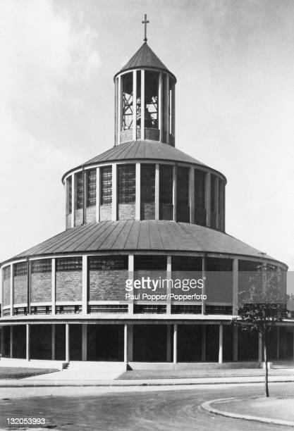 The Auferstehungskirche Rundkirche or Church of the Resurrection in Essen Germany built by architect Otto Bartning in 1929 It was constructed from...