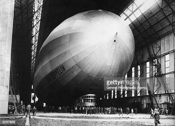 The Graf Zeppelin airship in its hangar