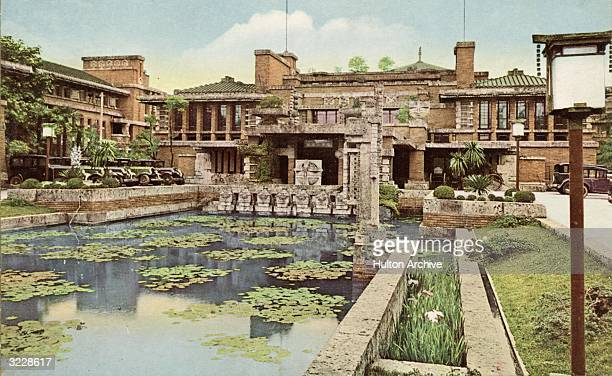 The Imperial Hotel Tokyo designed by Frank Lloyd Wright to be earthquake proof