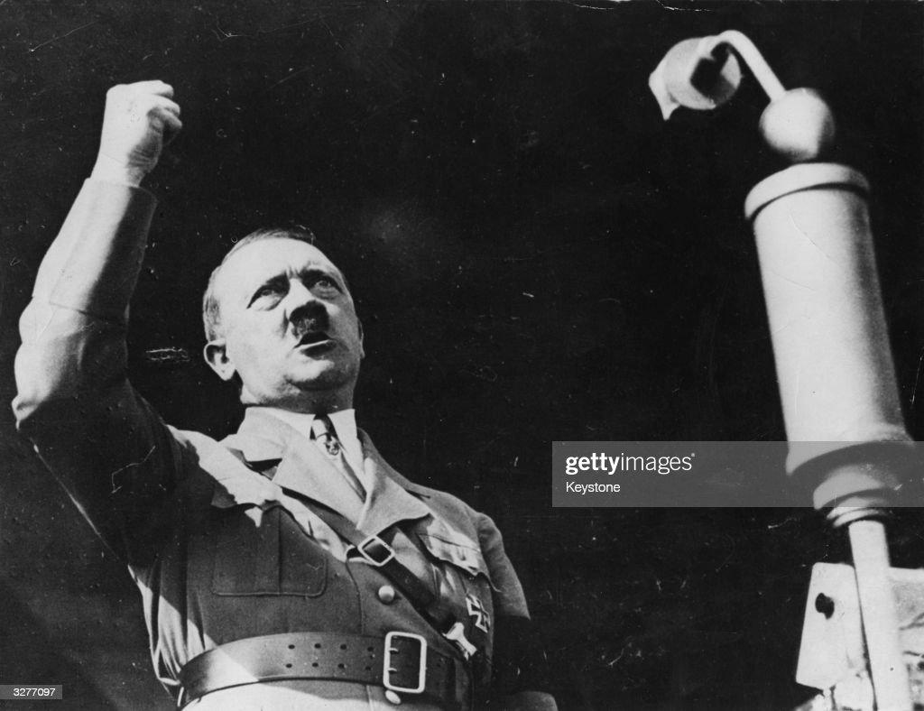 Adolf Hitler making a speech