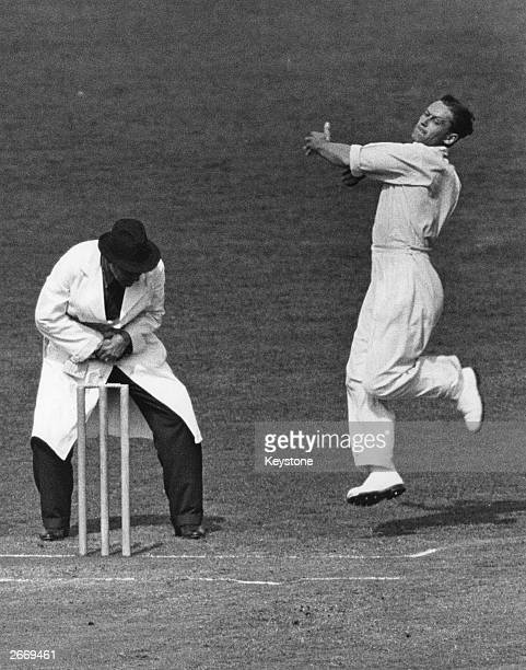 England and Middlesex cricketer George Oswald Allen known as Gubby Allen Knighted for services to cricket in 1986