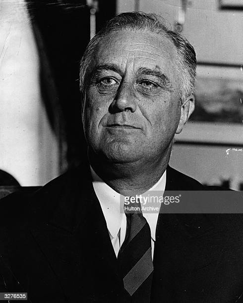 President Franklin D Roosevelt takes part in a neutrality discussion
