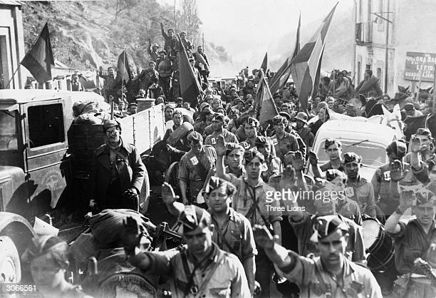 The Fifth Division of Replacements arrive and give the word that the troops of Navarre have come to fight in the Spanish Civil War