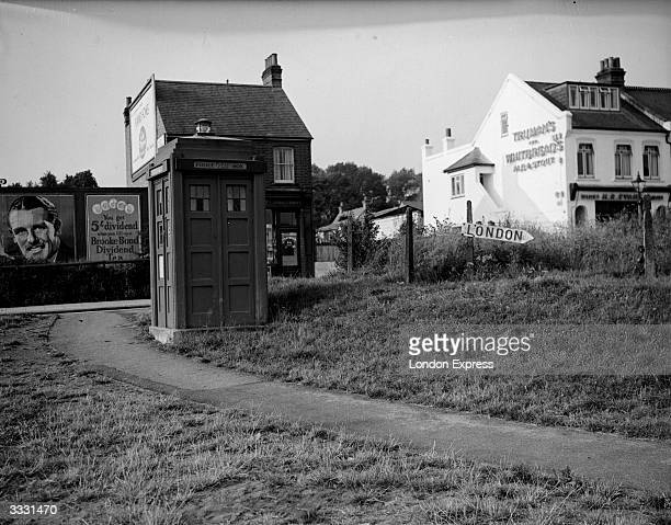 A police box in an English town