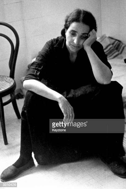 An exiled Spanish woman driven from her home by the fascist invasion of Spain