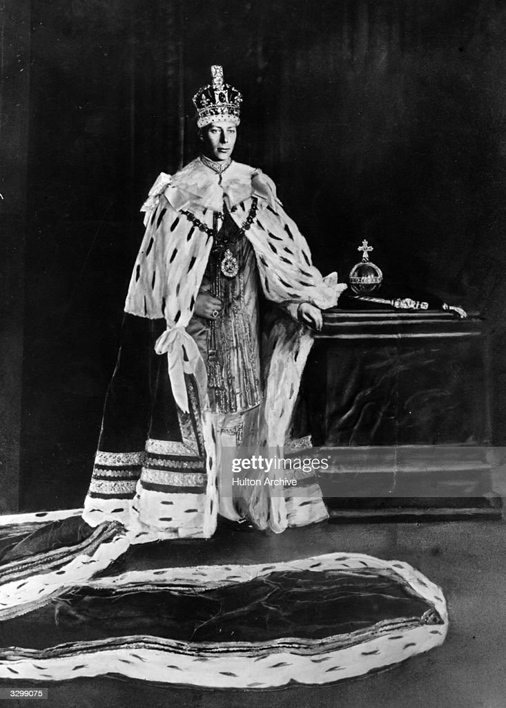 King George VI King of Great Britain wearing his coronation robes He reigned from 1936 on the death of his father Permission must be given by the...