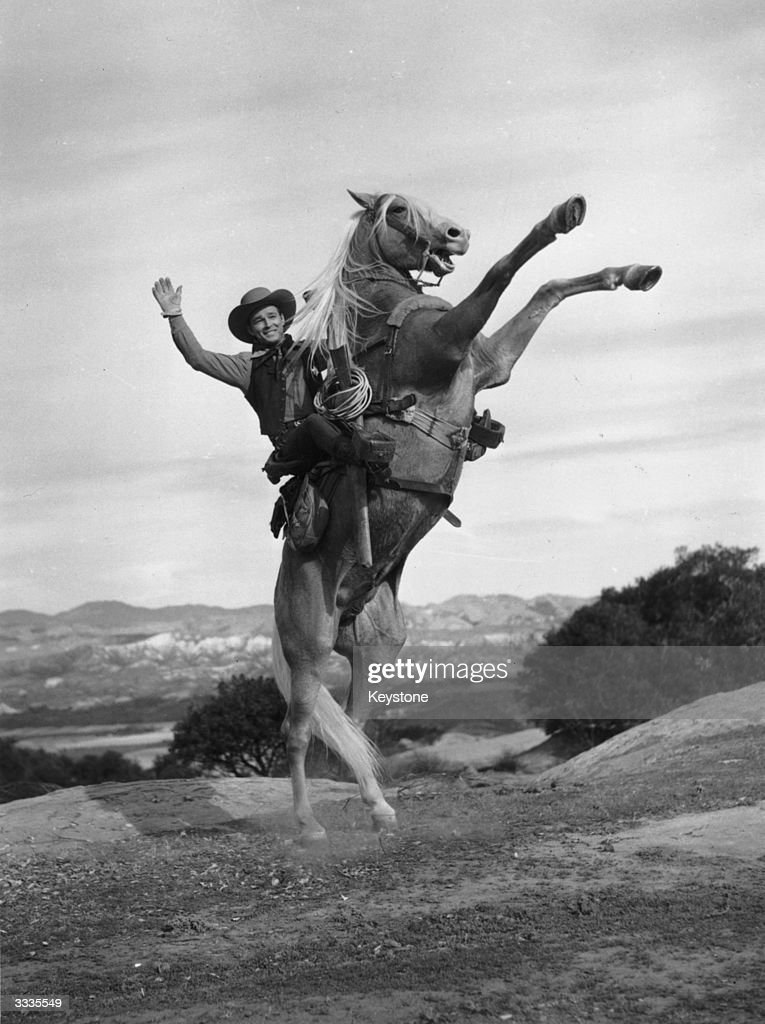 Roy Rogers born Leonard Slye the American singer and cowboy who became a major star with his horse 'Trigger'