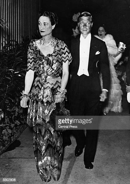 The Duke of Windsor formerly Edward VIII King of Great Britain before his abdication on 11 December 1936 and the Duchess of Windsor in Paris France