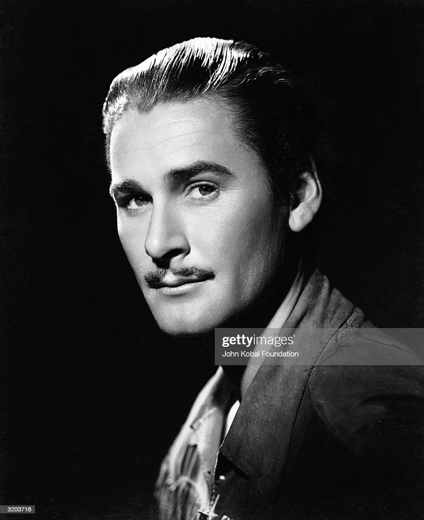 Tasmanian film star <a gi-track='captionPersonalityLinkClicked' href=/galleries/search?phrase=Errol+Flynn&family=editorial&specificpeople=93362 ng-click='$event.stopPropagation()'>Errol Flynn</a> (1909 - 1959), nicknamed 'The Baron'.