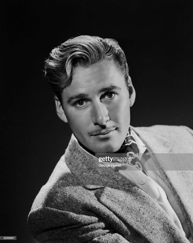Tasmanian film star <a gi-track='captionPersonalityLinkClicked' href=/galleries/search?phrase=Errol+Flynn&family=editorial&specificpeople=93362 ng-click='$event.stopPropagation()'>Errol Flynn</a> (1909 - 1959).