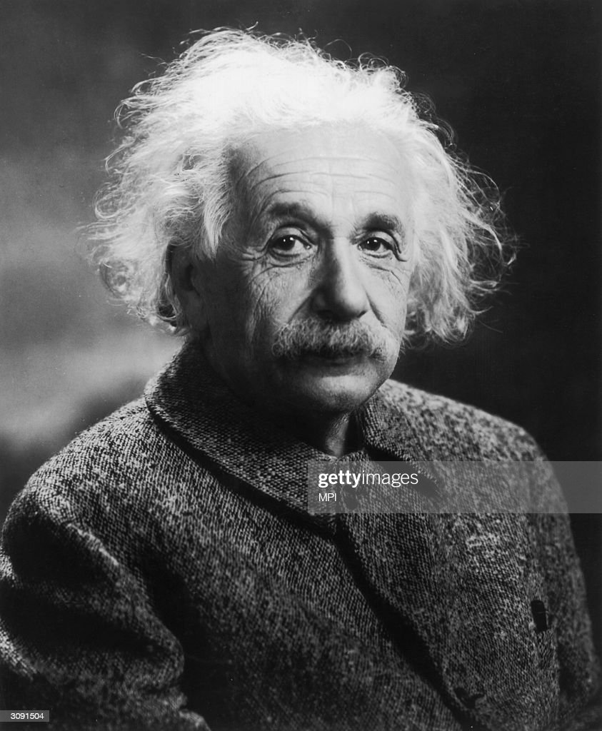 German-born physicist <a gi-track='captionPersonalityLinkClicked' href=/galleries/search?phrase=Albert+Einstein&family=editorial&specificpeople=70023 ng-click='$event.stopPropagation()'>Albert Einstein</a> (1879 - 1955), who developed the Theory of Relativity. He moved to Princeton, New Jersey in 1933, when Hitler came to power, and recommended the construction of an American atomic bomb.