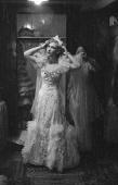 A panto girl prepares for a performance of Cinderella
