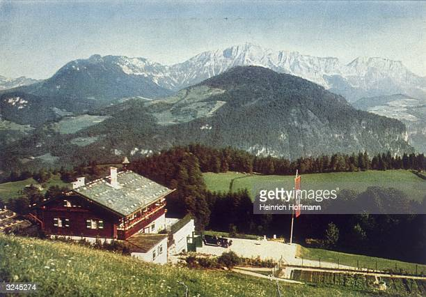 Adolf Hitler's mountain retreat at Obersalzberg above Berchtesgaden in Bavaria This chalet or 'Berghof' was destroyed in 1953 lest it become a shrine...