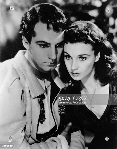 British actress Vivien Leigh in a scene from a film with her husband of three decades Laurence Olivier