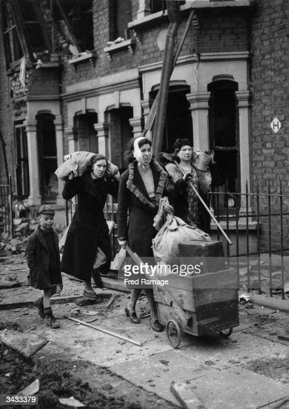 East Londoners are made homeless during German air raids on London
