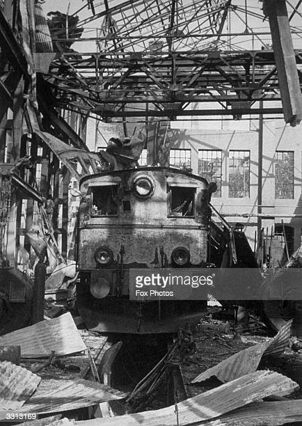 Railway lines trains and depots suffered terribly during the Narvik Campaign