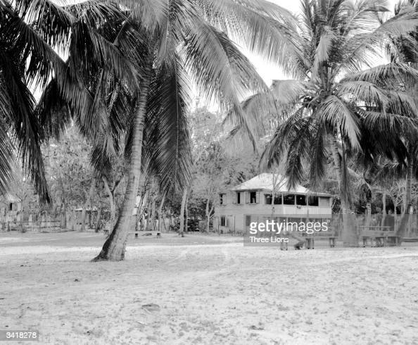 The beach and settlement of Cruz Bay on St John Island in the Virgin Islands