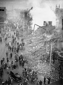 The centre of Coventry after a bombing raid