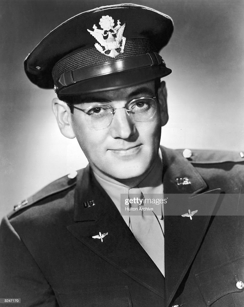 American musician and bandleader <a gi-track='captionPersonalityLinkClicked' href=/galleries/search?phrase=Glenn+Miller+-+Musician&family=editorial&specificpeople=12733485 ng-click='$event.stopPropagation()'>Glenn Miller</a> (1904 - 1944) in a U.S. Air Force uniform.