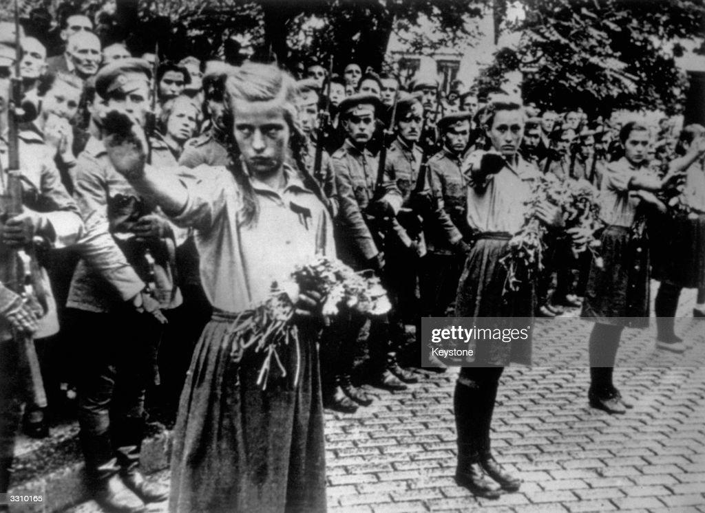 """""""Заедничката историја со источните ни соседи""""..според З.Заеб. Circa-1943-bulgarian-fascist-organisations-parade-at-the-funeral-of-picture-id3310165"""