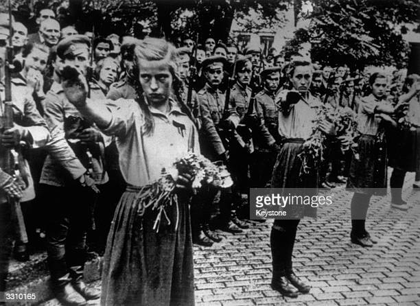 Bulgarian fascist organisations parade at the funeral of King Boris III of Bulgaria