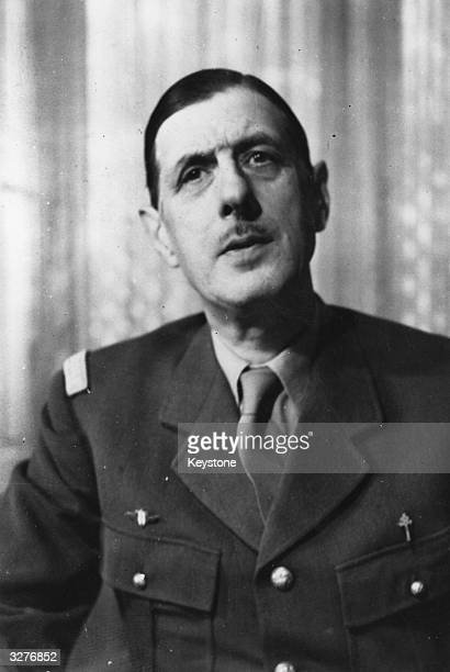 Charles Andre Joseph Marie De Gaulle General and later President of the Fifth Republic