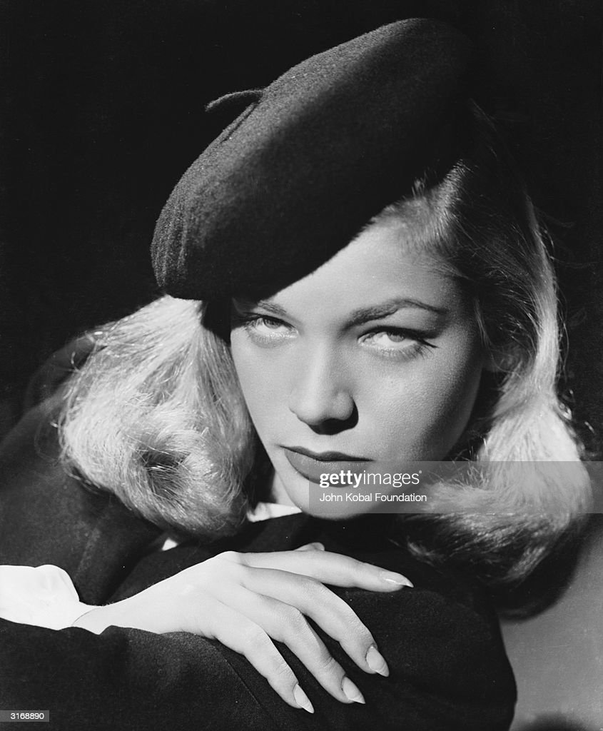 American screen star Lauren Bacall, whose successful film career spans more than fifty years.
