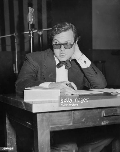 Orson Welles noted actor director producer and radio commentator is now also a syndicate writer on current events