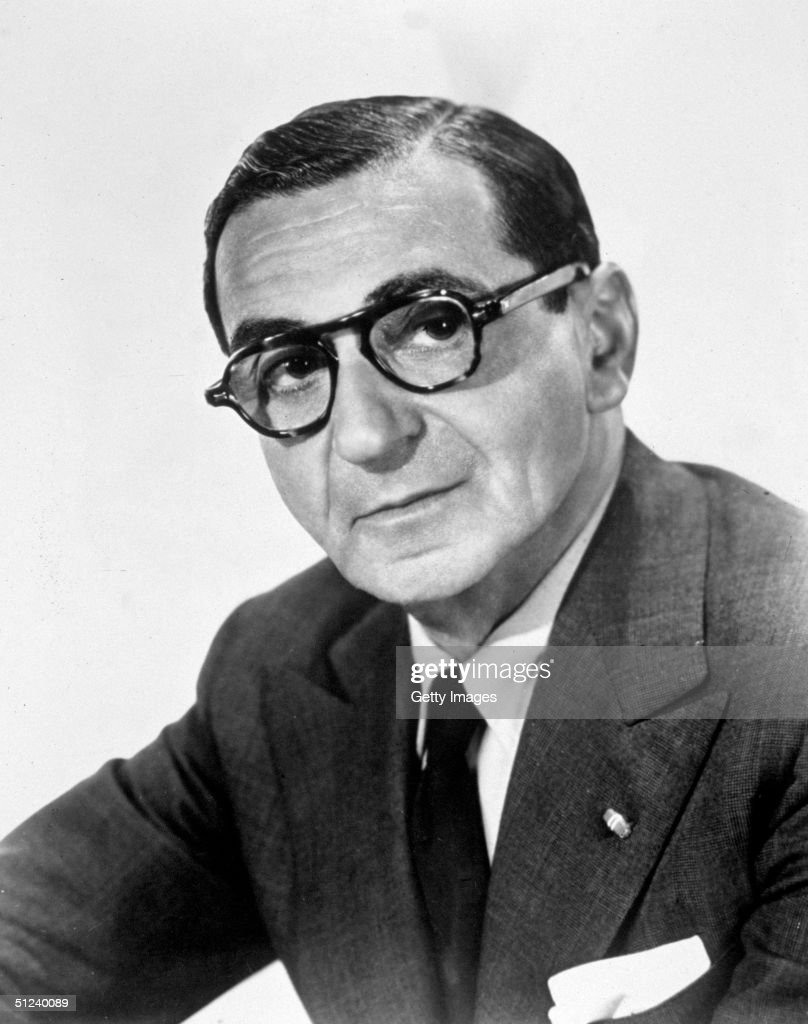 Circa 1945, Studio portrait of Russian-born composer and songwriter Irving Berlin (1888 - 1989), 1940s.