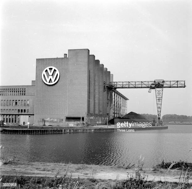 The heating plant for the Volkswagen factory in Wolfsburg Germany one of the chief production centres for the car manufacturer