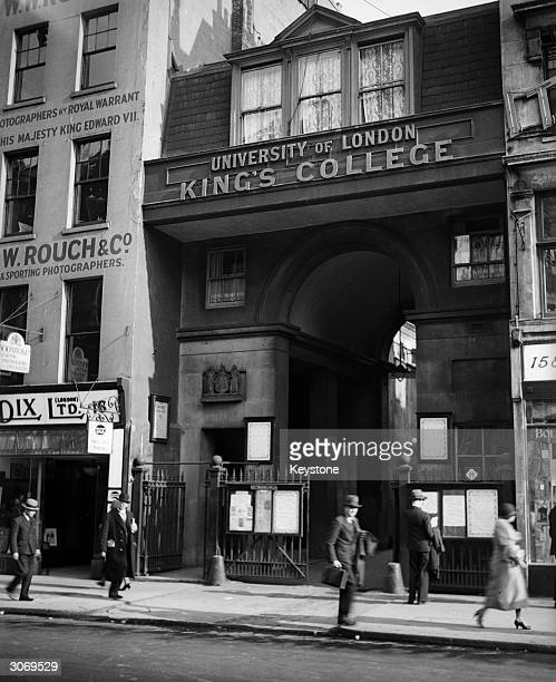 Robert Smirke's King's College part of the University of London in the Strand