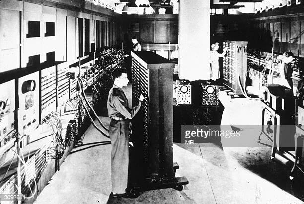 The ENIAC whose creation was speeded up as part of the war effort during World War II