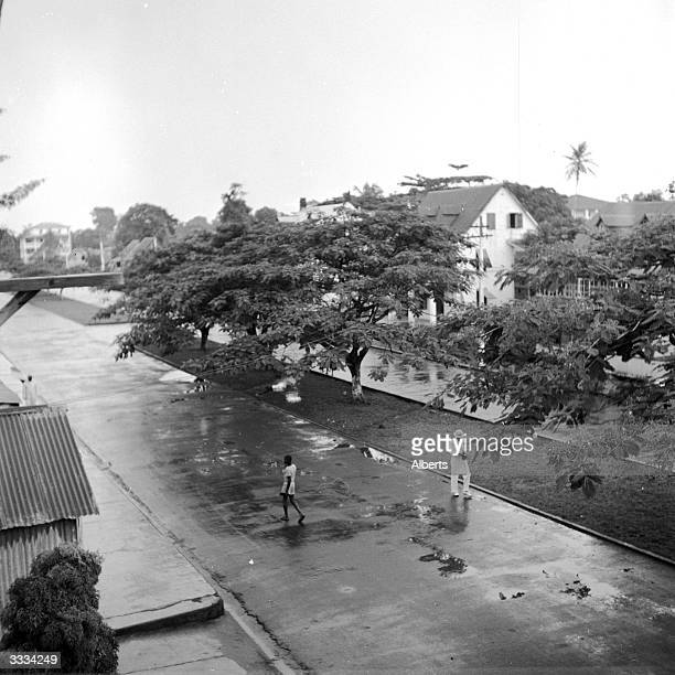 Broad Street is the main street in Monrovia capital of Liberia a wide thoroughfare lined with trees