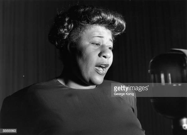 American jazz singer Ella Fitzgerald