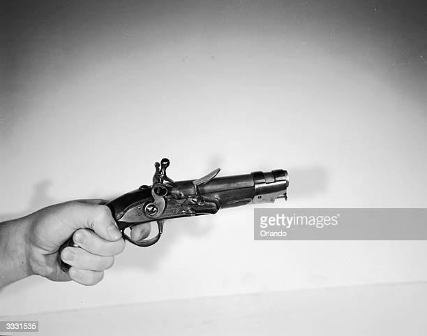 A 70 calibre pistol used by French gendarmes during the Napoleonic era it fired a small cannon ball and was almost as dangerous to operate as it was...
