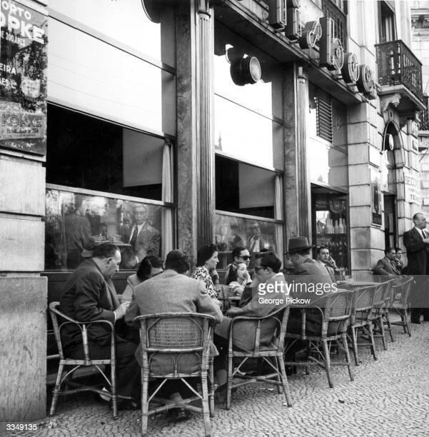 A cafe on the Avenida da Liberdade in Lisbon Portugal