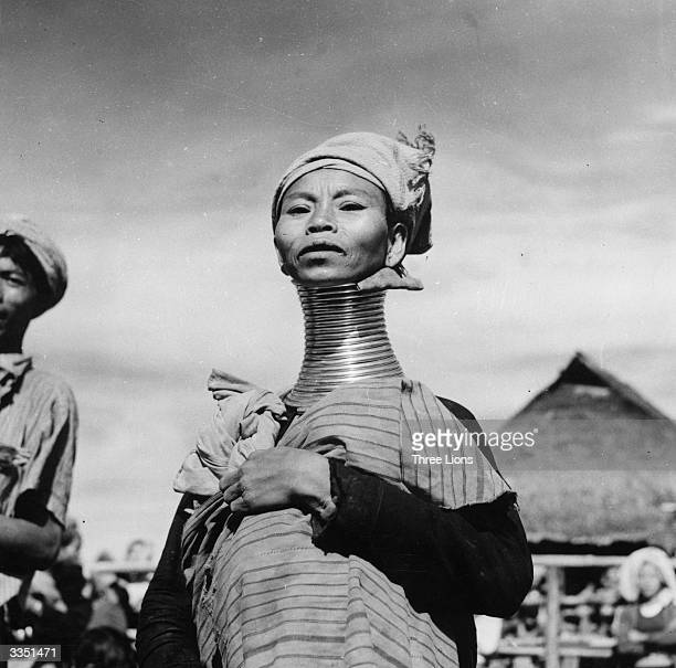 A Padaung or Kayan woman Originally a Mongolian tribe the Padaung have been assimilated into the Karen group native to Mayanmar The most stiking...