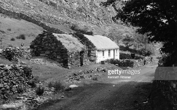 A small homestead in the mountains of Connemara County Galway