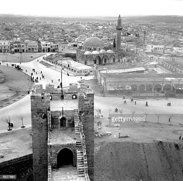 A view of Aleppo from the Citadel Legend has it that the city was founded by Abraham