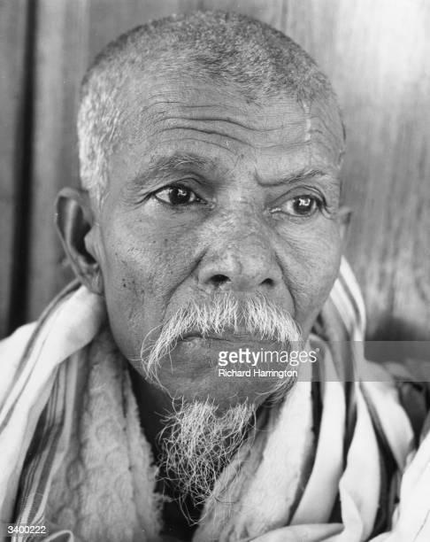 An elderly Burmese man