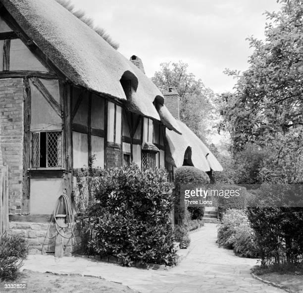 Anne Hathaway's cottage in Shottery near StratfordUponAvon