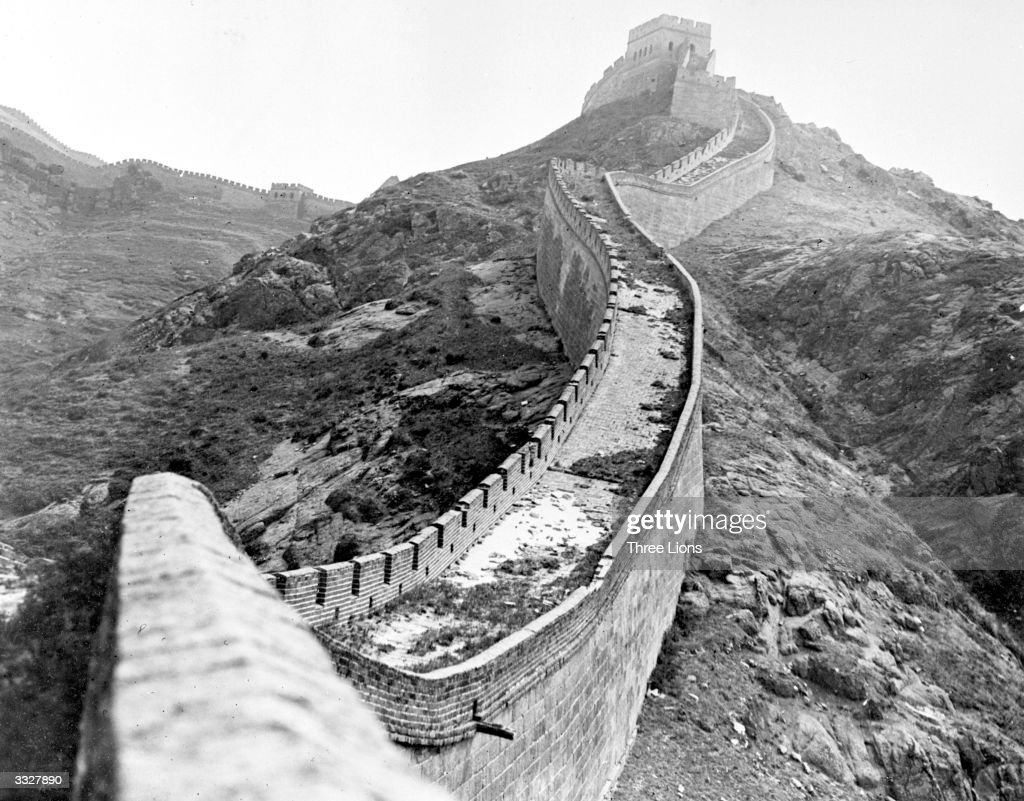 The Great Wall of China, which was built to protect against Mongols and Huns, runs for 1550 miles, is 50 ft high and 15-20 feet wide with a watch tower every 100 yards.