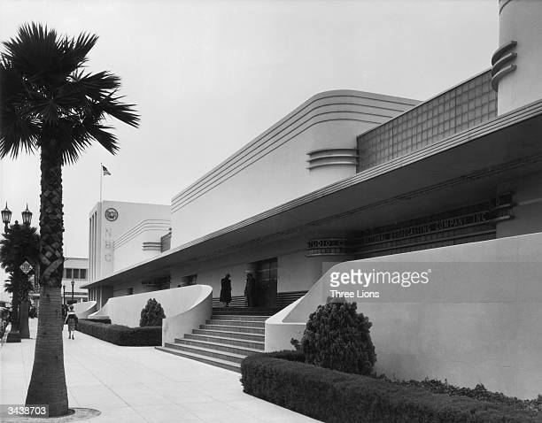 The NBC Radio Center on the corner of Sunset and Vine Hollywood designed by John C Austin and built in 1939