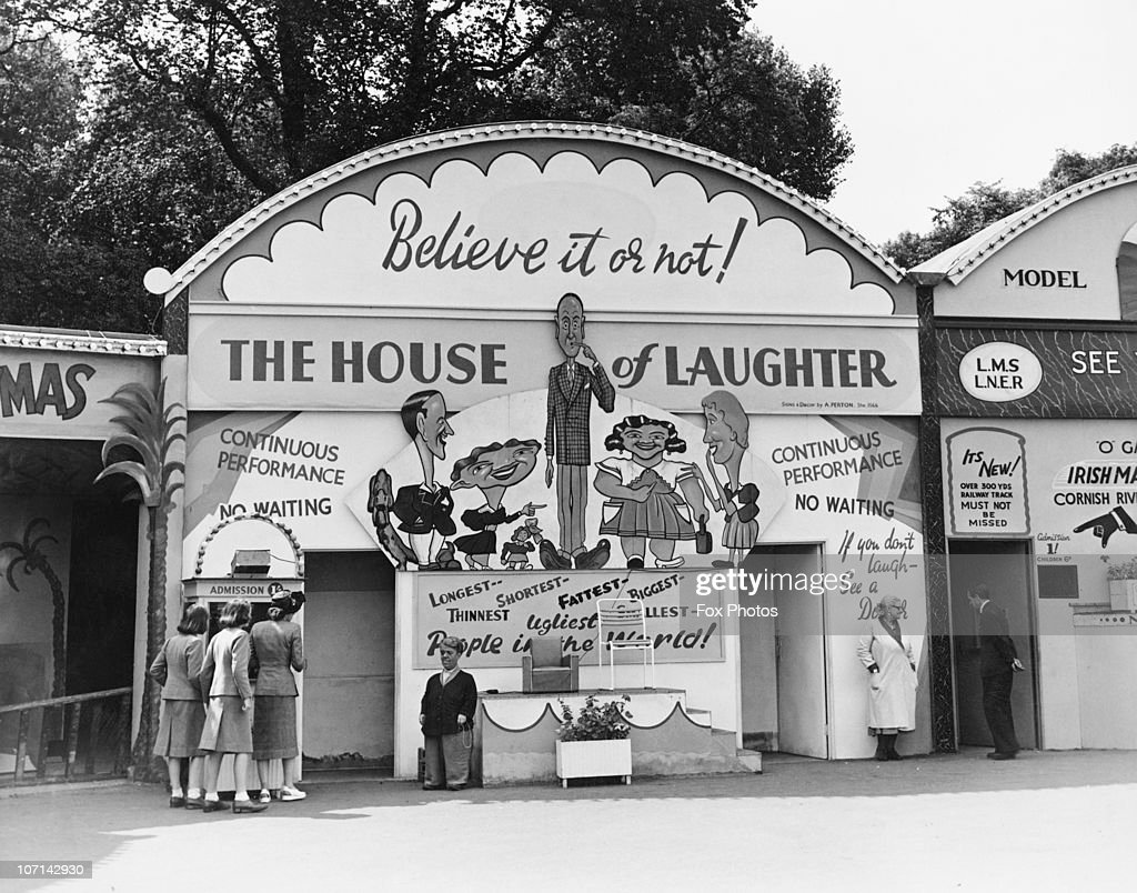The House of Laughter at the Festival Pleasure Gardens in Battersea Park London built for the Festival of Britain