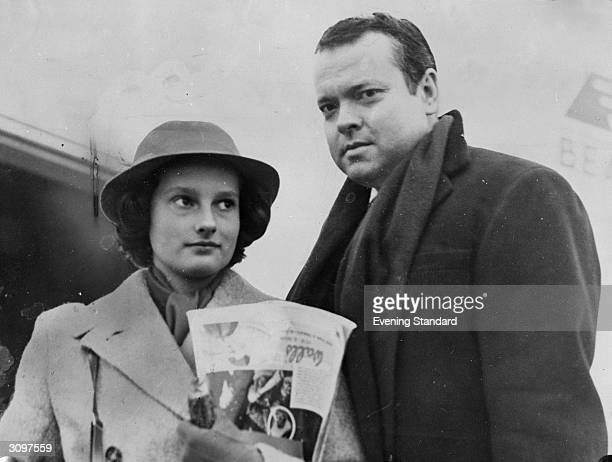 American actor and director Orson Welles with his eldest daughter Christopher born from his first marriage to Virginia Nicholson