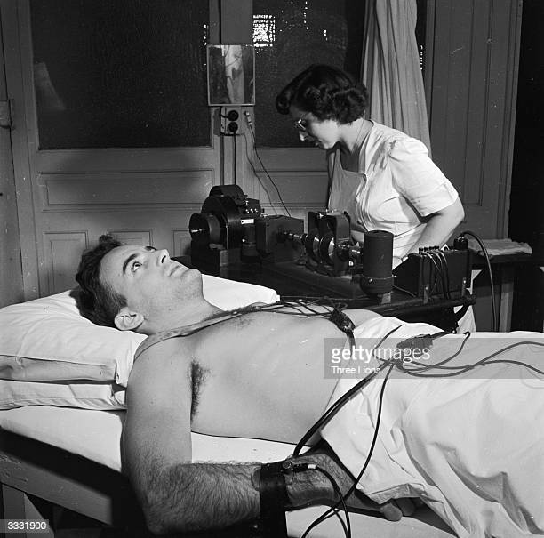 A cardiograph machine is used to give a picture of a patient's cardiovascular structure in a hospital