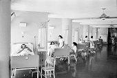 A hospital ward in the University City Caracas Venezuela